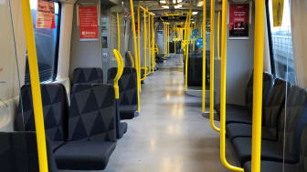 Uppgraderade tunnelbanetåg nu i trafik