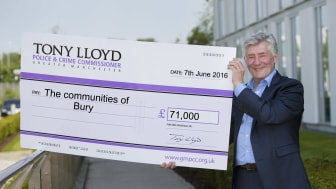 Cash boost for Bury groups from Police Commissioner