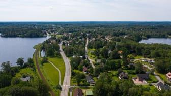 Hur vill vi att Hässleholms kommun ska se ut i framtiden och vad ska hända här? Översiktsplanen anger riktningen för utvecklingen av den fysiska miljön med plats för bland annat bostäder, kollektivtrafik, grönområden och skolor. Foto: Fotograf Daniel