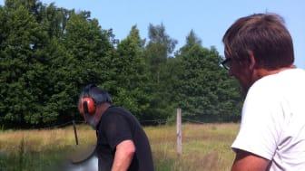 Woodwork AB och Björns Motorsågskonst tillverkar en stocktrumma