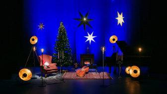 Camerata Nordica har skapat en julstudio på Forum i Oskarshamn. Foto Urban Wedin.