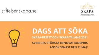 Är du Sveriges nästa mästare i innovation? Sök Sveriges största innovationspris senast den 31 maj