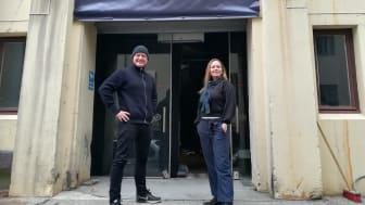 Morten Joachim Henriksen (teatersjef) og Hanne Eidsvåg Andersen (administrasjonssjef)