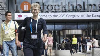 """""""För oss på Amgen Sverige känns det förstås extra bra att vi har så spännande data att presentera när Europas viktigaste blodcancerkongress kommer till Stockholm"""", säger Maria Eriksson Svensson, medicinsk chef på Amgen. Foto: Bosse Johansson"""