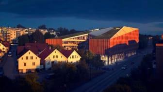 Finansparken har oppnådd Outstanding-nivå i BREEAM-NOR. Illustrasjon: Helen & Hard.