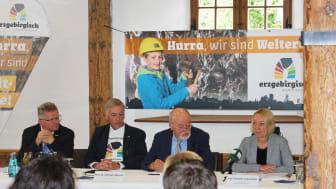 Pressekonferenz nach der Ernennung der Montanregion Erzgebirge/Krušnohoří zum UNESCO-Welterbe