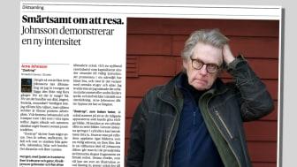 """Arne Johnssons nya diktsamling """"Zoetrop"""" hyllas i bland annat Dagens Nyheter."""