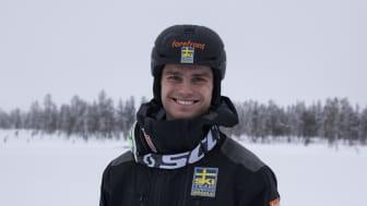 För tredje gången i karriären tog sig Felix till superfinal. Foto: Erik Danielsson, Ski Team Sweden Moguls