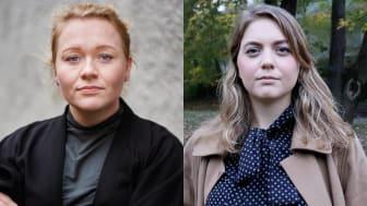 Mimmi Rönnqvist, ordförande för Saco Studentråd och Ebba Kock, ordförande för Sveriges Elevkårer.
