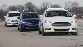 Ny global rapport: Ford leder utviklingen av selvkjørende biler