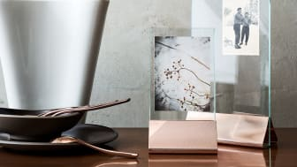 """In modernem Rosé Gold, aber auch klassisch in Gold und Silber, halten die neuen Silver Collection Bilderrahmen """"Streaked"""" schöne Erinnerungen stilecht fest."""