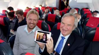 Norwegian ofrece televisión en directo a bordo de sus vuelos