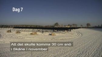 Hur bygger man en solcellspark på en vecka?