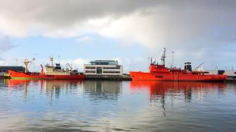 Muligheden for landstrøm sænker ESVAGTs emissioner i havn.