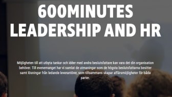 Träffa TNG på 600Minutes Leadership and HR 2019
