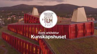Kunskapshuset vinner Swedish Design Awards by RUM 2021 i kategorin Årets Arkitektur