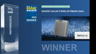 Ferroamp vinner Intersolar Award