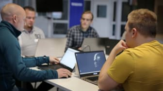 Deltagare i Hackaton 2018. Foto: Högskolan i Skövde