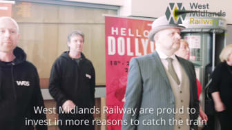 Hello Dolly flash mob entertains passengers at Wolverhampton railway station