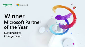 Schneider Electric vinnare av Microsoft Sustainability Changemaker Partner of the Year Award 2021