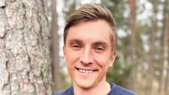 Mattias Lögdberg, 36 år och grundare av DevUp som är det senaste bolaget att antas till inkubatorprogrammet.