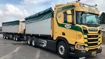 Scania i Frederikssund har i starten af sommeren leveret et komplet korntræk til NAG i Helsinge.