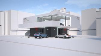 Audi charging hub pilotkoncept