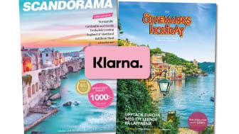 Scandorama och Ölvemarks Holiday lanserar samarbete med Klarna - bland de första i paketresebranschen.