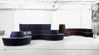 Lammhults presenterar Area Radius – svaret på kraven i dagens och morgondagens arbetsplatsmiljöer. Design: Anya Sebton.