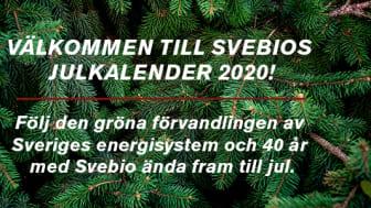 Vi firar Svebio 40 år med en julkalender!