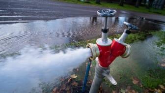 Renspolning av vattenledningsnätet i nordvästra Bjuv och Gunnarstorp