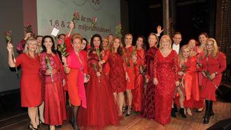 Den 21 mars slår Karlstad ett slag för kvinnohjärtat genom Woman in Red
