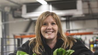 Isabell Bergstrand som arbetar på kvalitéts avdelningen på SydGrönt.