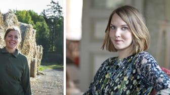 Till vänster: Pär och Ebba, KRAV-bönder (foto KRAV). Till höger: Clara Lidström (foto Clara Lidström).
