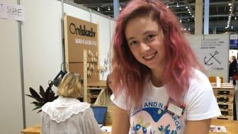 Forfatter Liv Ea afholder skrive- og læseværksteder med Ordskælv. Kreditering for foto er: Karen Siercke / Ordskælv