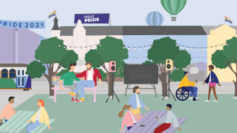 Illustrasjon Oslo Pride 2021: Trine Thingstad / Oslo Pride