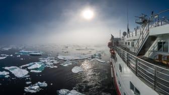 EXPLORING THE ICE: Hurtigruten introduces sailings to Russian the Northwest passage from 2019.  Photo: KARSTEN BIDSTRUP/ Hurtigruten