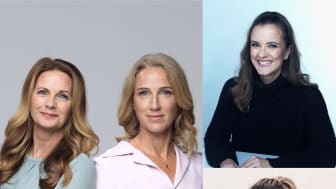 Mia Ingelström, Veronica Linarfve, Katarina Gospic och Jessica Walldén presenterar sina nya böcker under ledning av Alexandra Charles