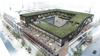 Påbyggnaden på gallerian Utopia i centrala Umeå. Foto: Balticgruppen