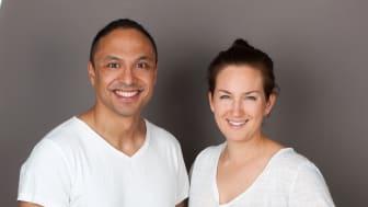 Marcel Aponno, specialist i allmänmedicin och verksamhetschef, och Veronika Andersson, platschef Hälsocenter Läkarhuset Göteborg.