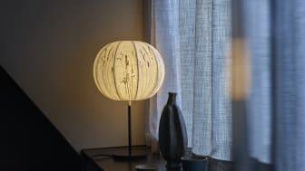 Malmstenbutiken lanserar åtta nya modeller av sina klassiska lampor med torkade växter i samarbete med formgivaren Eva Schildt