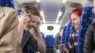 Allt nöjdare bussresenärer i Dalarna