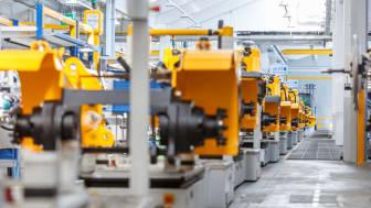 Full fart framåt: Jungheinrich ökade antalet beställda enheter med 13% under 2017.