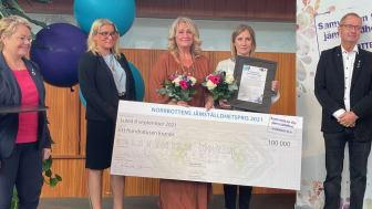 Susanne Pettersson och Kristina Nilsen är vinnare av Norrbottens jämställdhetspris 2021. Foto: Piteå kommun