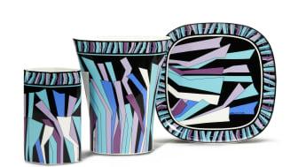 Wie in ein Pucci-Seidentuch gehüllt: Rosenthal Dekor Zadig von Emilio Pucci.