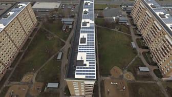 HSB Brf Elisetorp i Arlöv med 390 lägenheter har redan investerat i solpaneler och fortsätter nu hållbarhetsresan med geoenergianläggning från Malmberg