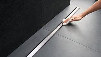 Cleanline-suihkukouru on helppo pitää puhtaana.