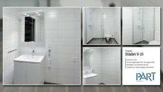 Part levererar 424 badrum till projektet Städet 9-10