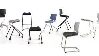 """Nu presenteras """"ADD Work"""" och """"Add Move""""- nylanseringar i Lammhults multifunktionella stolsserie """"ADD"""" i design av Anya Sebton"""