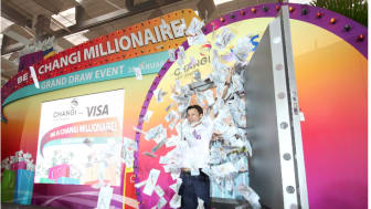 Former radio DJ Ivan Rantung, is the overall winner of the 'Be a Changi Millionaire' Grand Draw, bagging the grand prize of S$1 million.